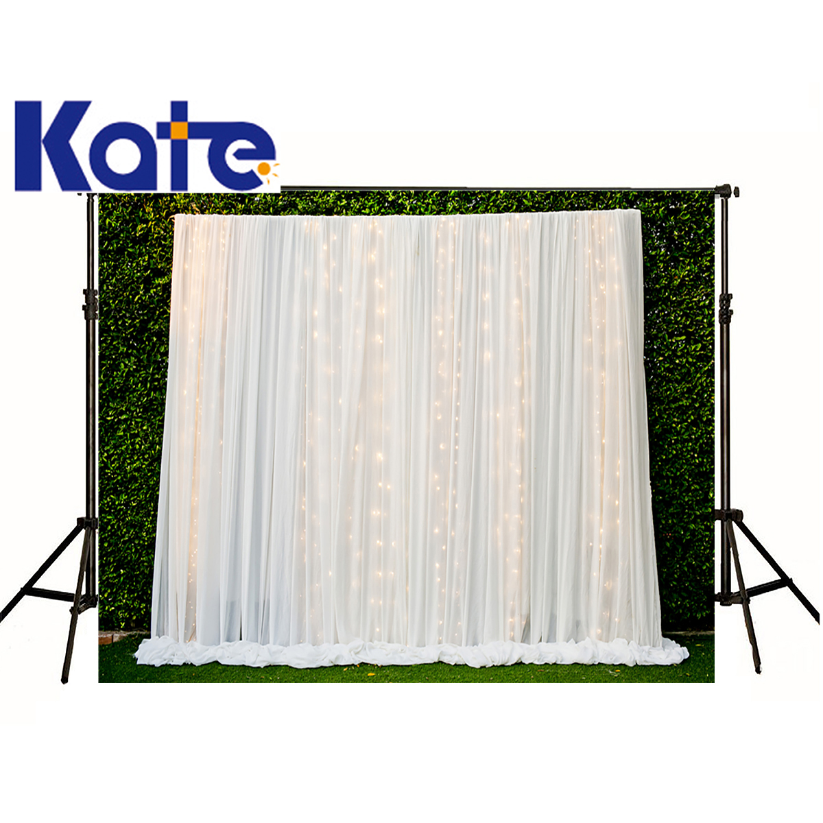 kate Photographic background Green plant white mesh lace golden stage lighting No creases Can be washed newborn christmas 8x12ft no name afm 1045a 3х9 м green white