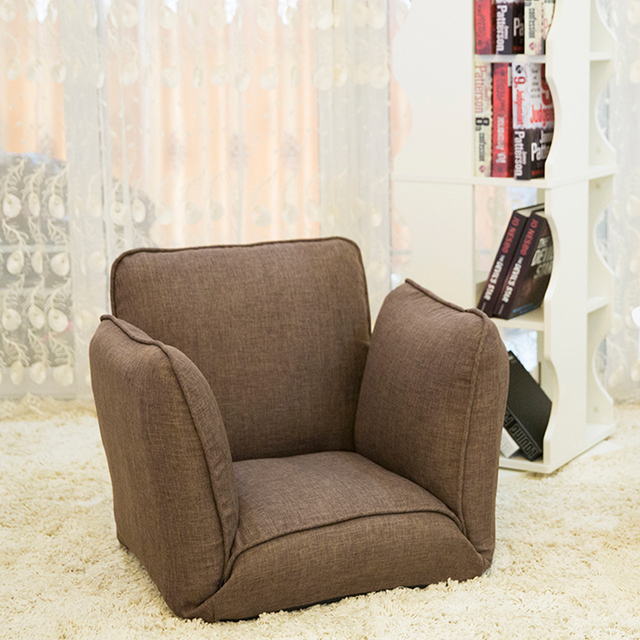 Upholstered Living Room Furniture. Floor Folding Single Sofa Chair Japanese Seating Living Room Furniture  Modern Occasional Accent Upholstered Armchair