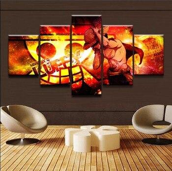Leinwand Gedruckt Wand Kunst Malerei Animation Poster 5 Panel Einteiliges Kühle Zeichen Moderne Home Decor Bilder Kunstwerk Rahmen