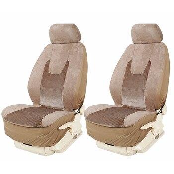 KANGLIDA, accesorios para coche, conjunto de cojín para asiento de coche delantero, Universal a cuadros, asiento de cubo para automóvil, asiento negro transpirable duradero