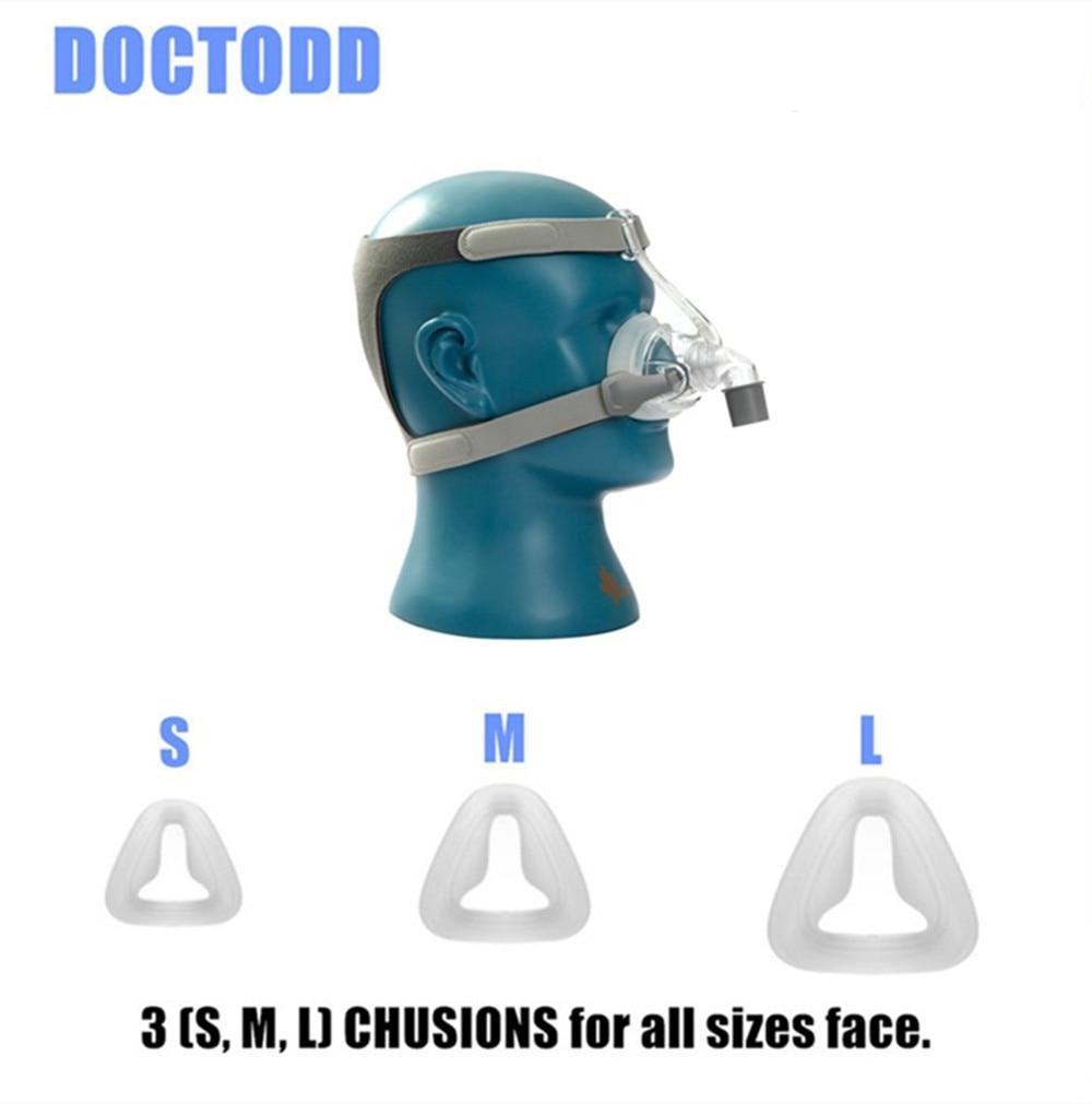 DOCTODD NM4 Masque Nasal Avec Coiffures SML 3 Taille De Silicium Gel Coussins Pour CPAP Auto CPAP L'apnée Du Sommeil SAHOS SAOS ronflement Personnes