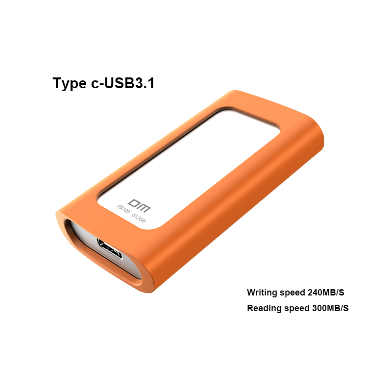 DM FS300 External Solid State Drives 512GB Portable SSD External hard drive hdd for laptop with Type C USB 3.1