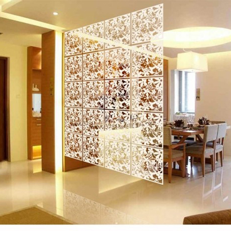 Popular plastic partition buy cheap plastic partition lots for Painted screens room dividers