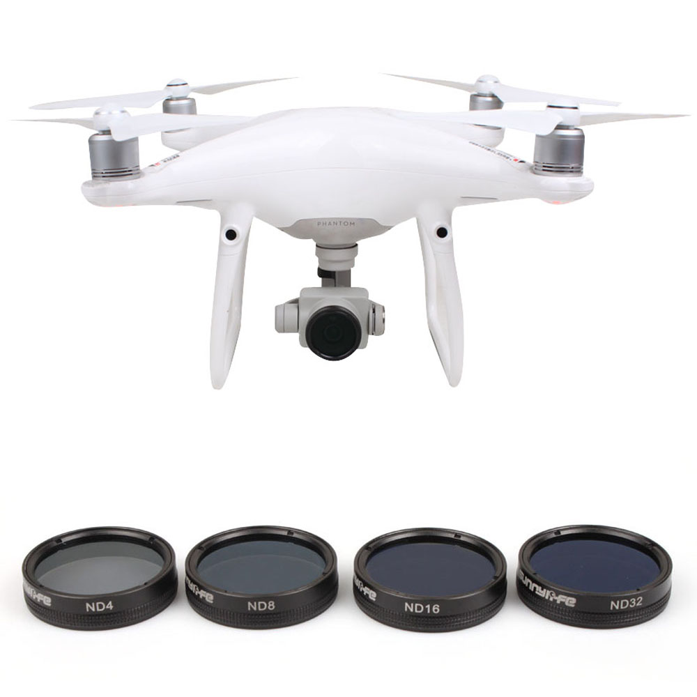 DJI Phantom 4 Lens Filters ND4 ND8 ND16 ND32 CPL UV Phantom 4 Pro Plus Camera Filter Lens Cap for DJI Phantom 4 Pro RC Drone