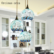 Mediterranean LED aisle restaurant personality bar small chandelier balcony Chandelier