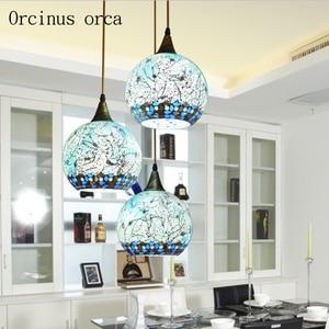 Image 1 - Mediterranean LED aisle restaurant personality bar small chandelier balcony Chandelier
