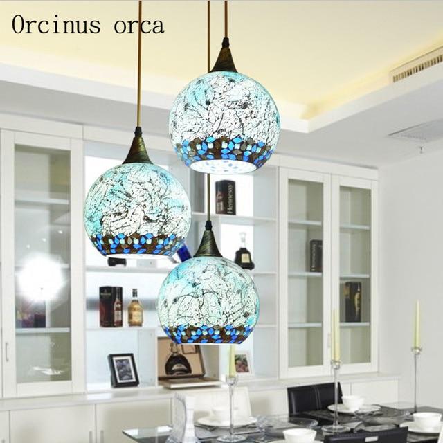 Mediterranean LED aisle restaurant personality bar small chandelier balcony Chandelier