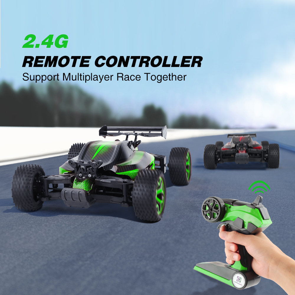 GizmoVine Rc Car 2 4G High Speed 20KM H 1 18 Radio Controlled Machine Rock Crawlers Double Motors Drive Buggy oyuncak Big Sale in RC Cars from Toys Hobbies