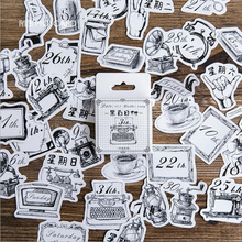 45 Pcs/pack Vintage object Mini Paper Stickers Diary Decoration DIY Scrapbooking Label Seal Sticker kawaii  Stationery 46 pcs box cute mini vintage travel sticker scrapbooking diy paper pack seal label diary bullet journal kawaii stationery 1t807