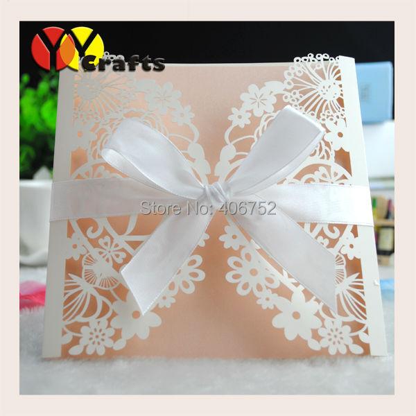 Cream pearl elegant flower invitation card design lace card wedding cream pearl elegant flower invitation card design lace card wedding invitations party favors stopboris Images