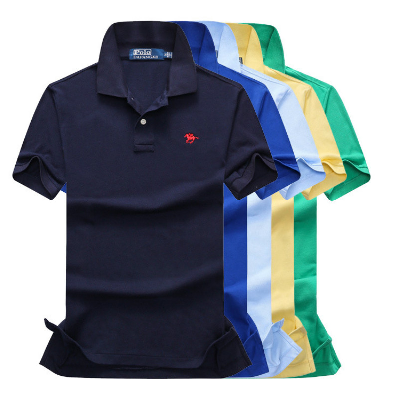 2019 Summer New Men's   POLO   Shirt Fashion Casual High Quality Cotton Solid Male   Polo   Shirts Anti-Wrinkle Embroidery Wide-waisted