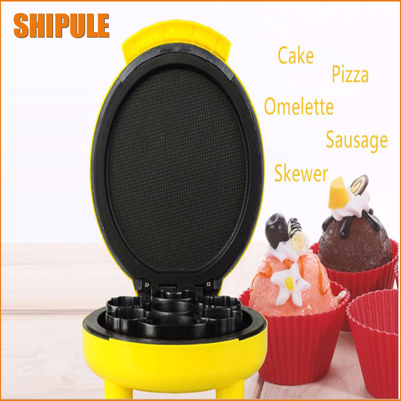 Household Electric Ice Cream Machine donut wizard waffle maker crepe maker kitchen pan chinese single round pan rolled ice cream machine fried ice cream roll machine with 6 barrels