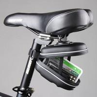Saco traseiro de bicicleta à prova d'água  cesta para ciclismo  bolsa de eva  estojo preto para guardar bicicleta