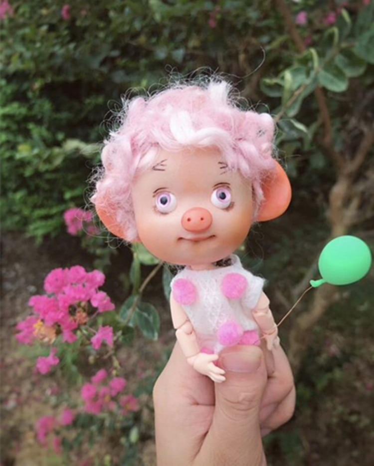 BJD mini cerdo regalo hecho a mano juguete multi-articulación cuerpo - Muñecas y accesorios - foto 1
