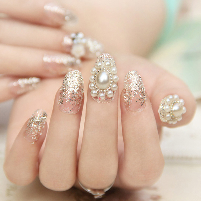 2PCS New Arrive Nail Art Decorations Rhinestones Lots Elegant Round ...