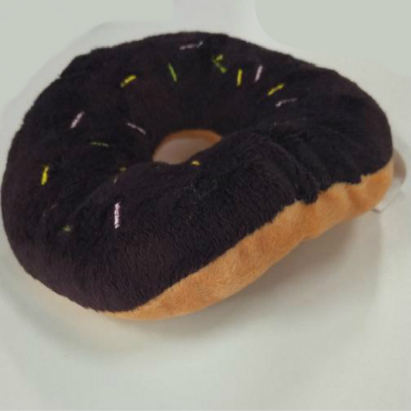 13cm Sightly Pet Chew Cotton Donut Play Toys Lovely Pet Dog Puppy Cat Tugging Chew Squeaker Quack Sound Toy Chew Donut Play Toys #6