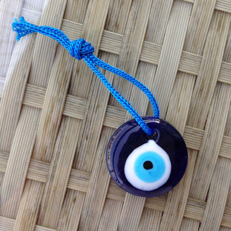 HOT ใหม่ Lampwork แก้วตุรกี Evil Eye Charm จี้รถบ้าน Amulet ตุรกีเครื่องประดับ XSD88
