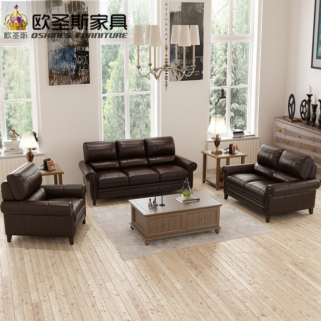 Chocolate Chesterfield Sofa American Style Italian Top Grain Leather Factory Direct Furniture