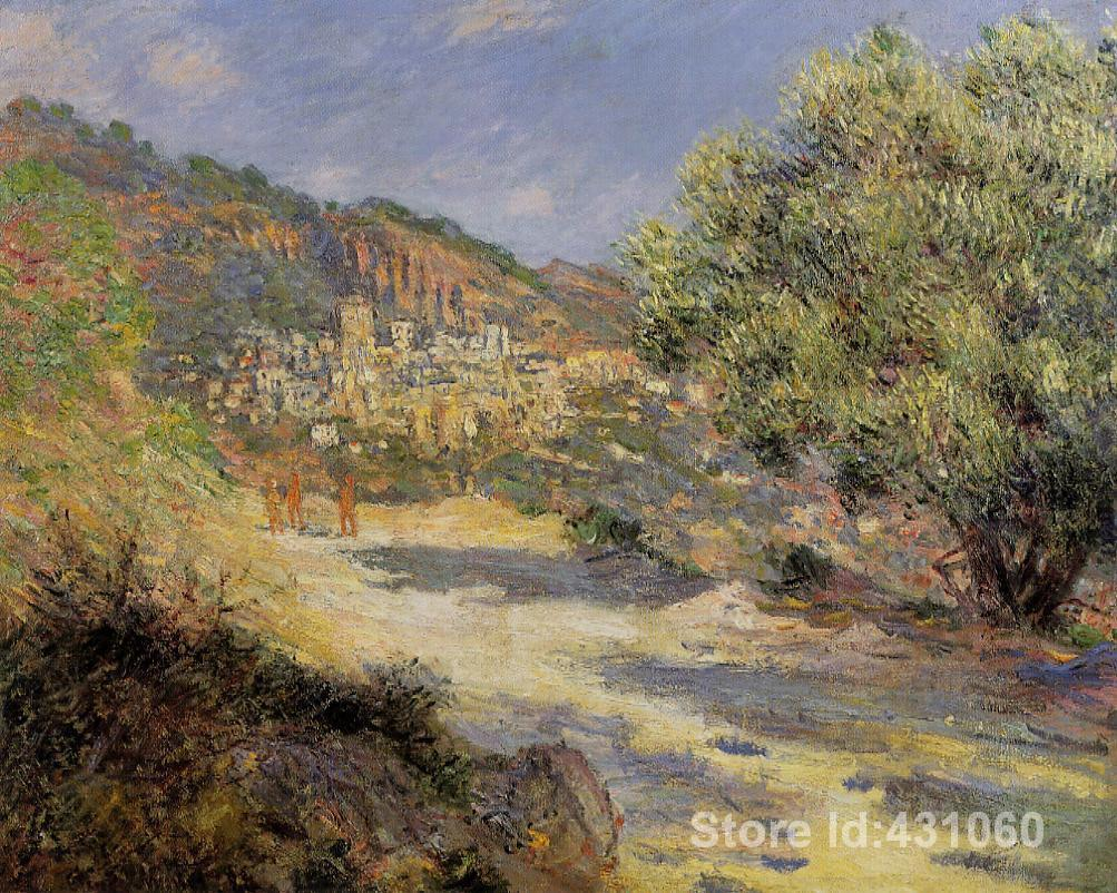Painting The Bedroom Aliexpresscom Buy Famous Claude Monets Paintings The Road To
