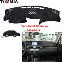 TOMMIA Auto Car Dashboard Pad Cover Dash Mat DashMat Anti Sun Pad Fit For LEXUS GS 2004 2011 Car Sticker