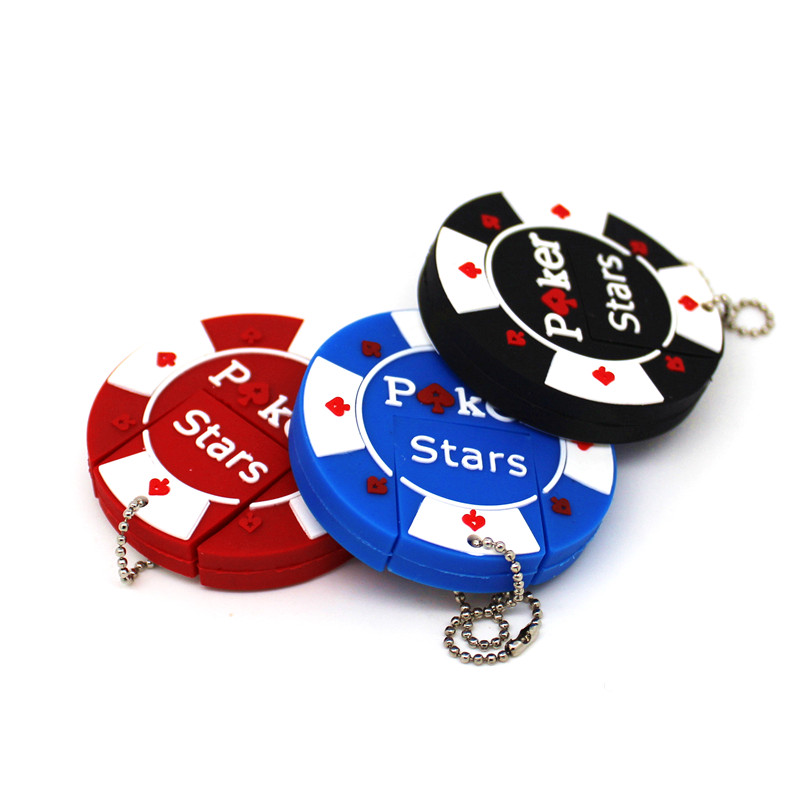 Fashion Poker Stars USB Flash Drive Casino/bargaining Chip 4GB 8GB 16GB Pendrive Memory Stick 32GB 64GB Pen Drive U Disk