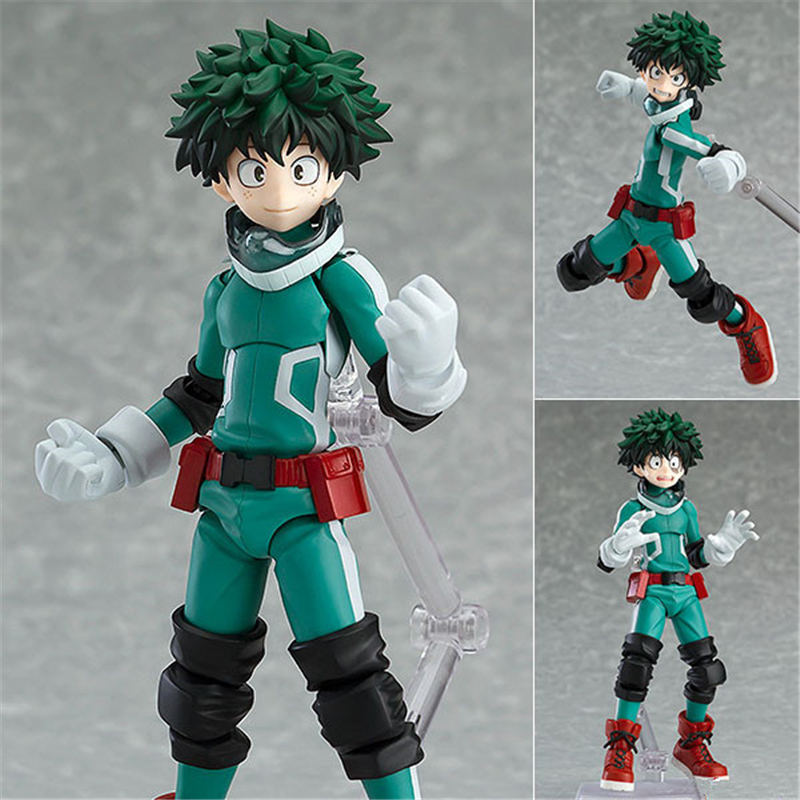 Anime My Hero Academia Midoriya Izuku Figma 323 PVC Action Figure Collectible Model Kids Toys Doll Brinquedos 15CM все цены