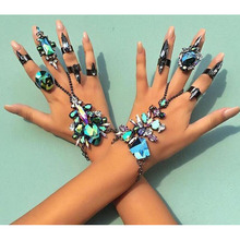 JUJIA Hot Style good quality Fashion Bracelet Wedding maxi Jewelry Sexy Statement bohe Female Boho Crystal Bracelet drop ship