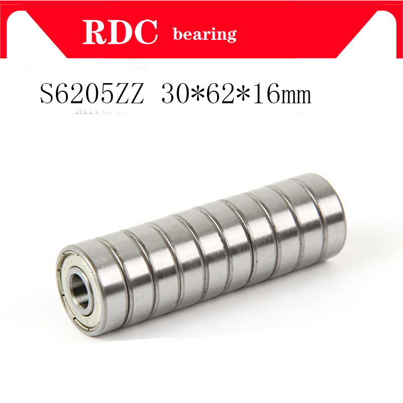 Free Shipping S6206ZZ S6206 30*62*16mm Stainless Steel Ball Bearing S6206 2RS 30x62x16mm