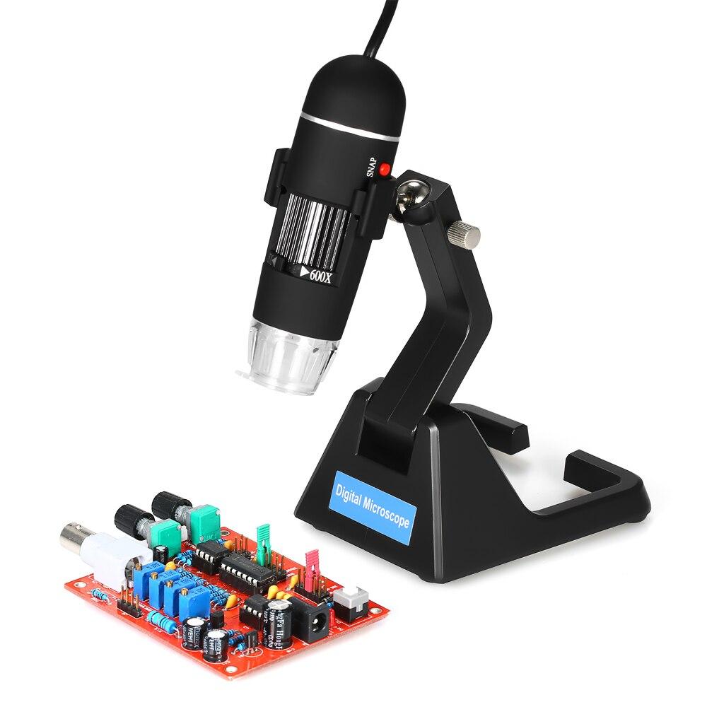25X-600X USB Microscope Numérique à souder électronique microscope Zoom Endoscope Loupe avec 8 LED Lumière Universelle Stand