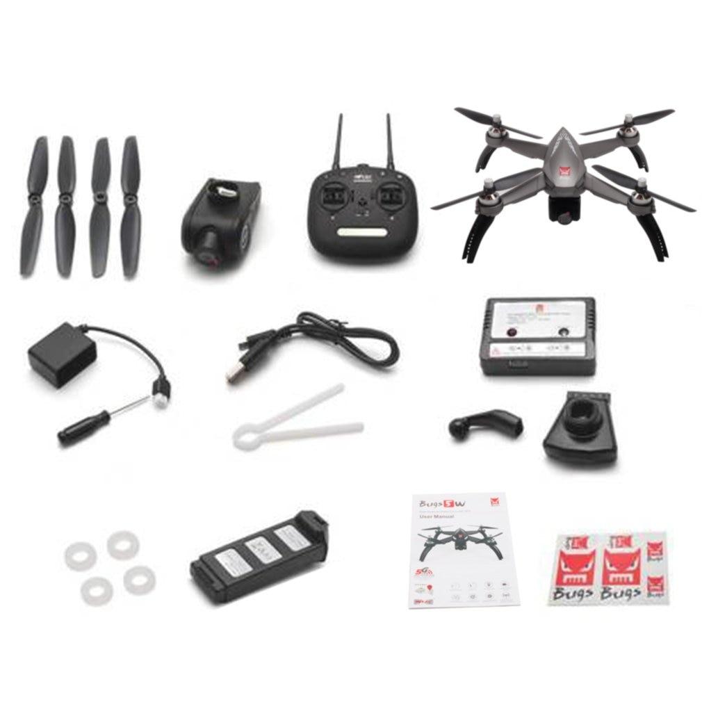 MJX Bugs 5 W B5W Moteur Brushless RC Drone avec 1080 P 5G Wifi FPV Réglable Caméra GPS Quadcopter 2.4 GHZ D'avions De Contrôle À Distance