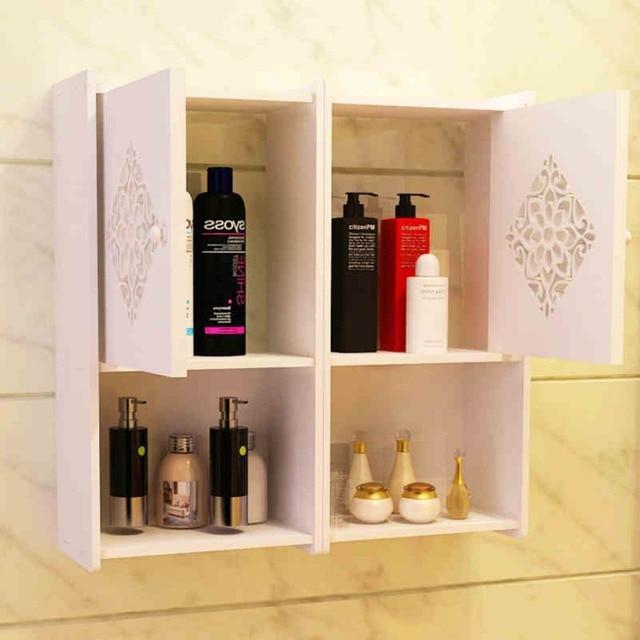 Badkamer rack, muur type nail free opbergkast, badkamer muur lockers ...