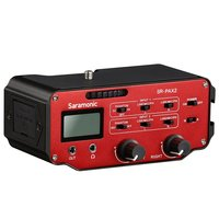 Saramonic SR PAX2 аудио адаптер смесителя предусилитель два XLR и два 3,5 мм разъем интерфейса для DSLR Камера микрофон