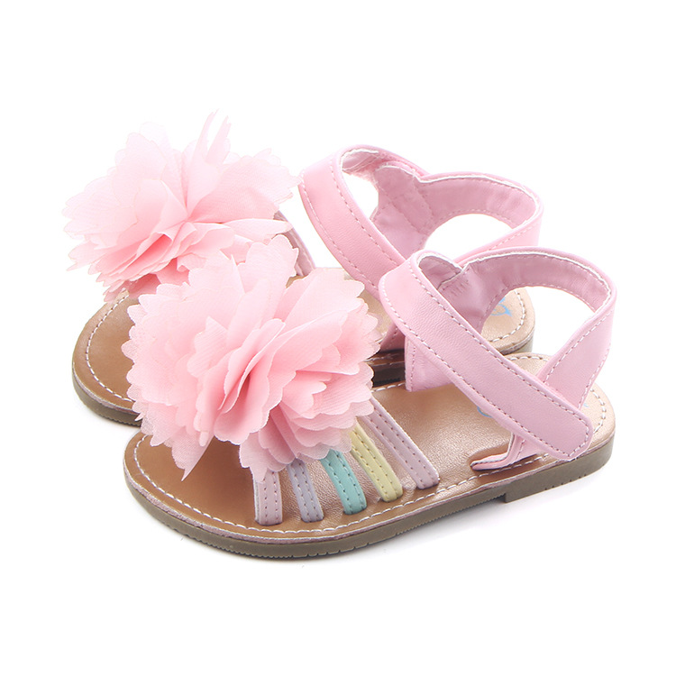 2017 New Flowers Summer Shoes Baby Girls Shoes Kids Clogs Baby Moccasins Drop Shipping
