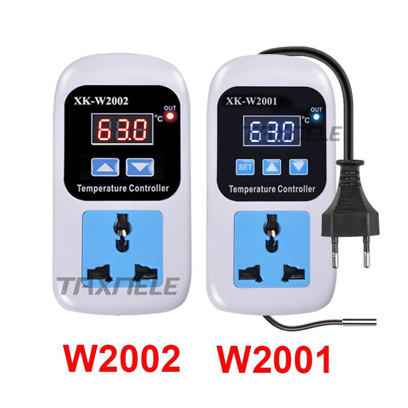w2001 AC 110-220V Digital socket Thermostat Regulator Temperature Controller Microcomputer Socket Outlet -<font><b>50</b></font>~<font><b>110C</b></font> NTC Sensor image