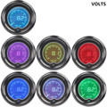 "EE support 2"" 7 Colors Blue Red LED Car Voltage Meter Auto Digital Volt Gauge 52mm Tint Len car-styling XY01"
