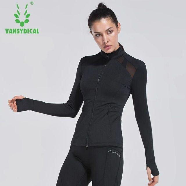 1aad3b858caf Vansydical Autunno inverno donna abbigliamento fitness femminile Zip Con  Cappuccio giacca sportiva manica lunga vestiti di