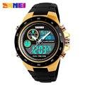 Мужские кварцевые цифровые часы мужские спортивные часы SKMEI люксовый бренд светодиодный военный водонепроницаемый наручные часы мужские ...