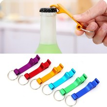 5pcs/lot Multifunctional portable bottle opener creative colorful Keychain beer cans beverage LF 119