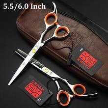 Japan Kasho Hair Scissors 5.5 inch 6.0 inch Professional Hair Cutting Thinning Scissors Barber Shears Hairdresser Tool
