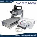 El envío libre 300 W DC motor del huso del CNC máquina de grabado CNC 3020 T-D300 router de perforación