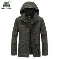 AFS JEEP 2017 Military Quality Plus Size M 4XL Men S Autumn Casual Brand 100 Cotton