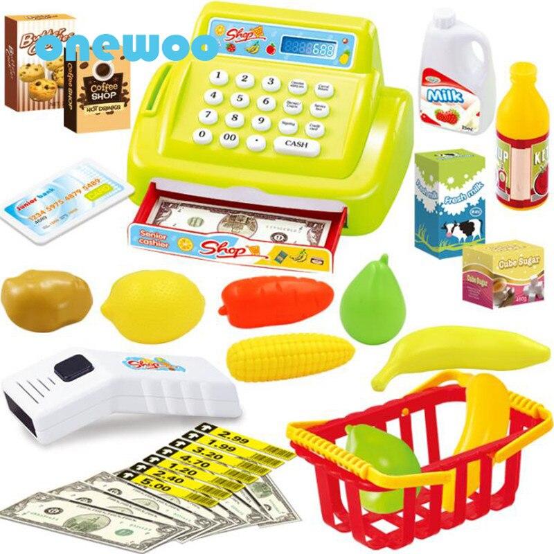 Kid Cash Register Toy Children Ticket Office Box Simulation Cash Machine Educational Toys Girl Cash Box Children Supermarket Toy