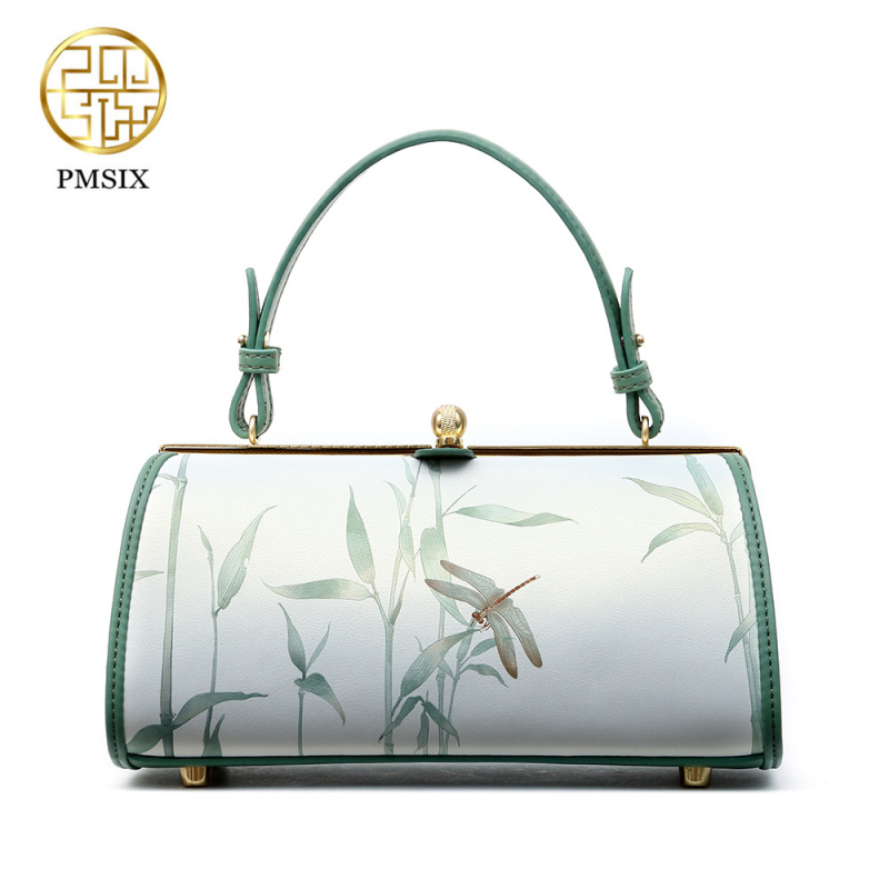 PMSIX 2019 Summer Split Leather Bag Light Blue Printing Designer Summer Bag Women Leather Handbag Fashion Small Chain Bag 120120PMSIX 2019 Summer Split Leather Bag Light Blue Printing Designer Summer Bag Women Leather Handbag Fashion Small Chain Bag 120120