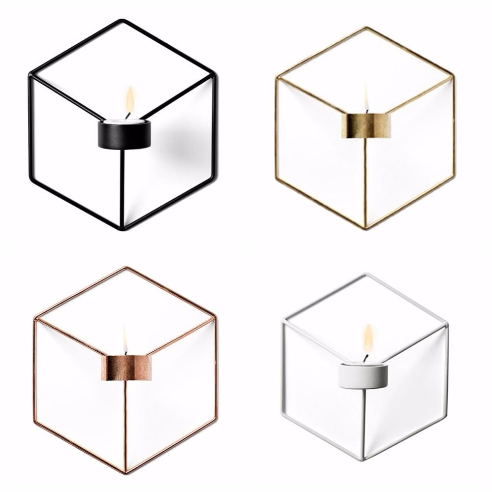 Brieftaschen Und Halter Kreative Metall Geometrie Runde Kreis Leuchter Teelichthalter Hochzeit Party Home Wand Ornamente Dekoration