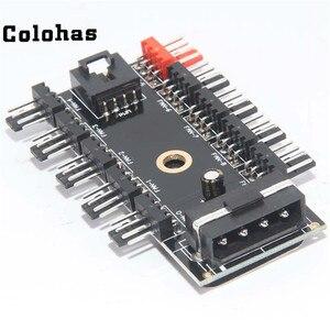 Procesor Molex 4 Pin do 10 porty 4-Pin PWM sterowania wentylatorem Splitter rozszerzenie HUB dla PC wentylator chłodzenia zgodny z systemem z 3Pin wentylator