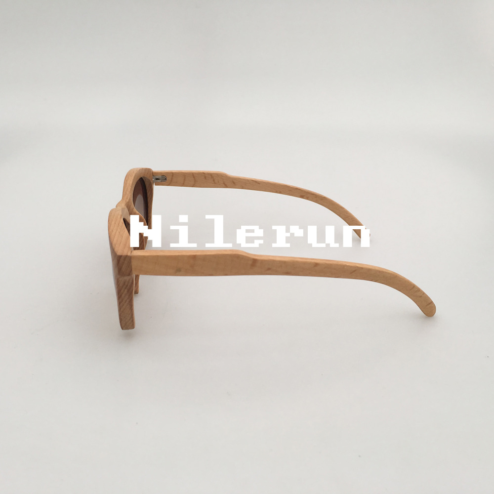 Inferior sin montura gafas de sol de madera de haya en Gafas de sol ...