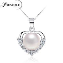 YouNoble Freshwater Pearl Pendant Natural for Women,925 Sterling Silver Pendant Necklace Charm Girl Best Friends Birthday Gift цена и фото