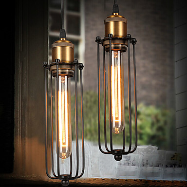 Edison Retro Style Loft Industrial Light Vintage Pendant Lamp Fxitures Lampshade Handlamp American Country edison retro vintage lamp loft industrial pendant light fxitures dinning room water pipe lighting lamparas 5 color lampshade