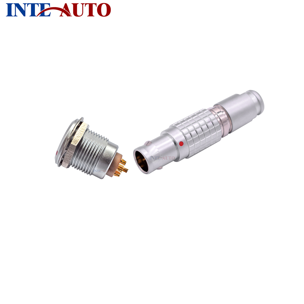 Compatible LEMO 2B series 6 pins Metal electrical connector, cable Plug and receptacle, FGG.2B.306  EGG.2B.306 2b 16 pins lemo straight plug with obd cable circular connector fgg 2b 316