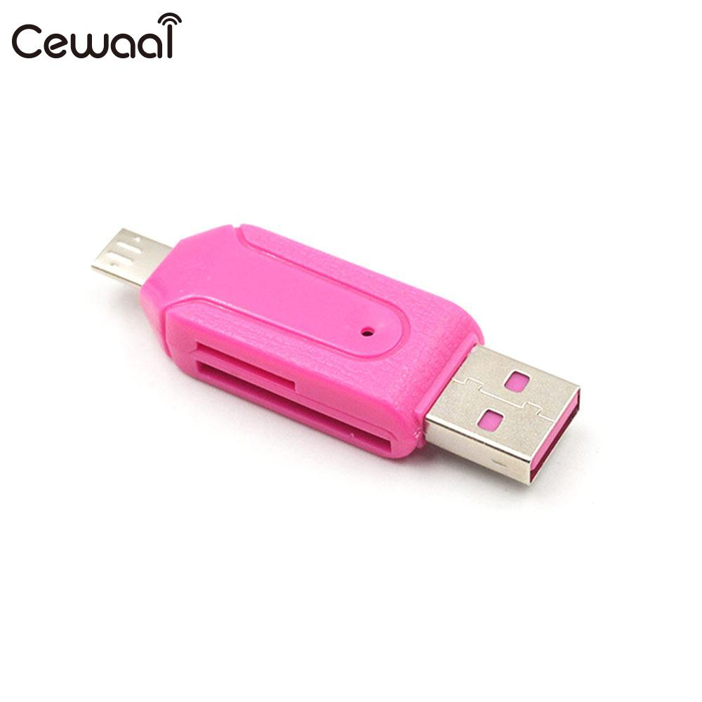 Cewaal Computer mobile tablet generic 480Mb/S USB 2.0 Card Reader Memory Card Reader Micro SD Card Reader